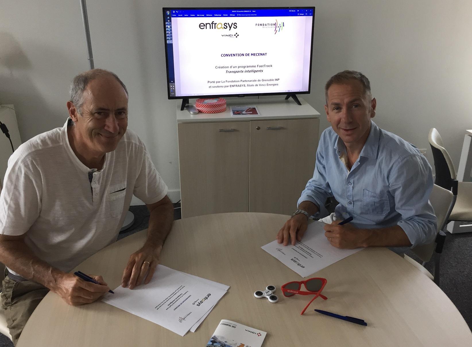 Un nouveau partenariat avec Enfrasys sur le transport intelligent