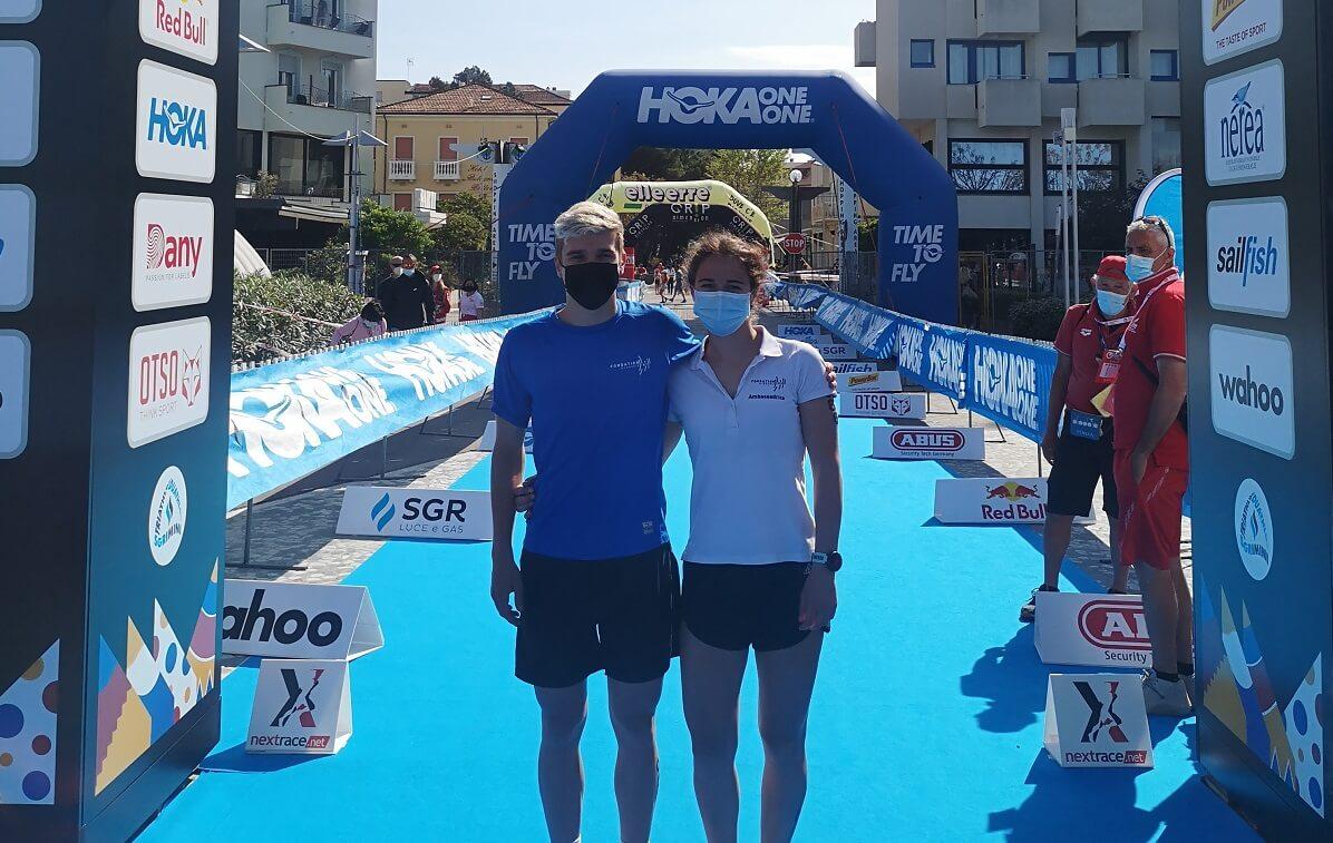 Beau retour à la compétition pour Lucas et Celine, deux étudiants Sportifs de Haut Niveau de la Fondation Grenoble INP
